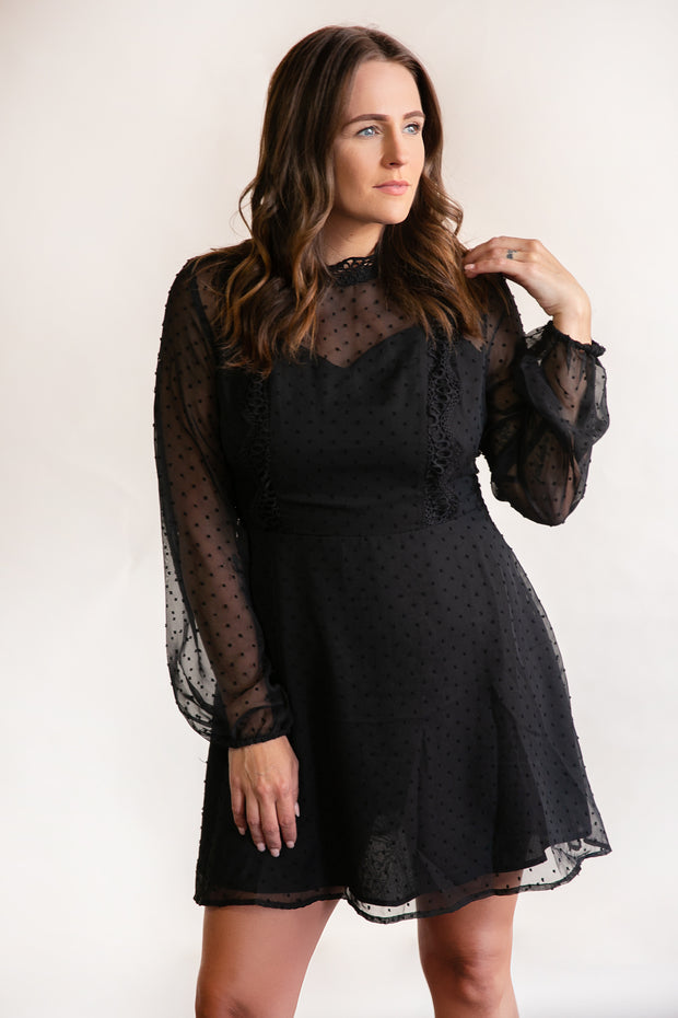 Victoria Semi-Sheer Dress - Phoebe Jane