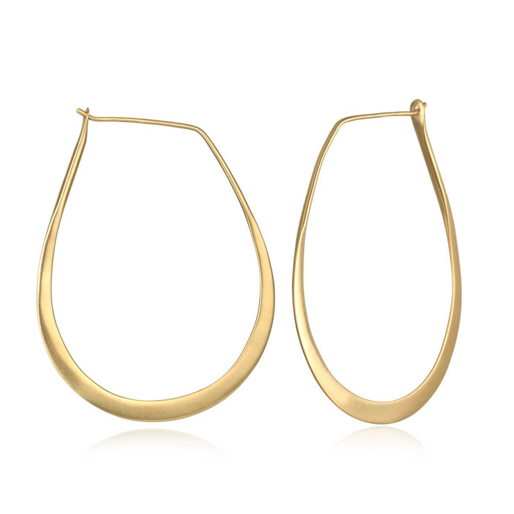 Minimalist Hoop Earrings In Gold - Phoebe Jane