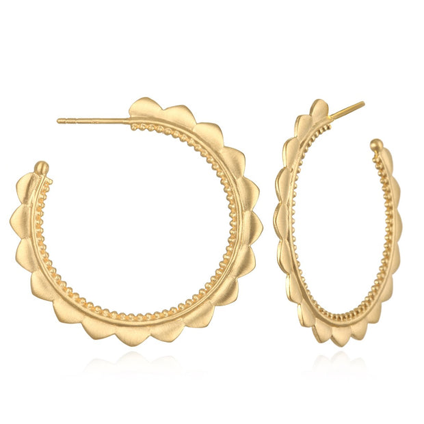 Rise with the Sun Earrings In Gold - Phoebe Jane