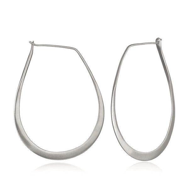 Minimalist Hoop Earrings In Silver - Phoebe Jane