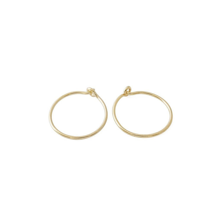 Everyday Hoop Earrings In Gold - Phoebe Jane