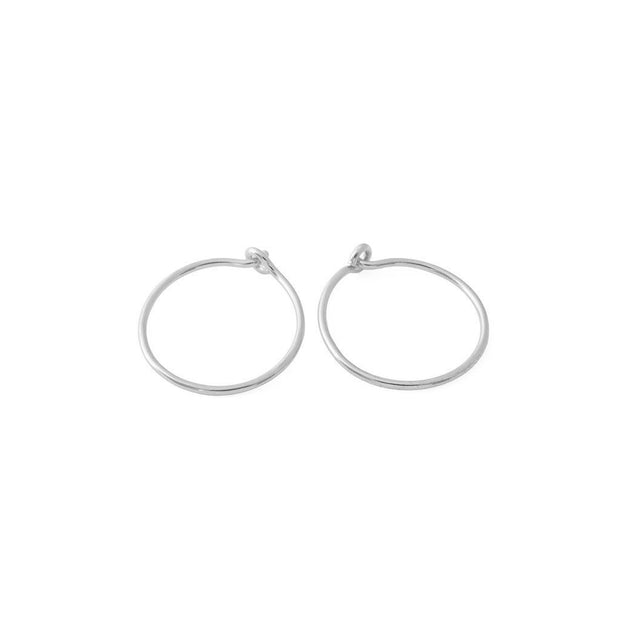 Everyday Hoop Earrings In Silver - Phoebe Jane