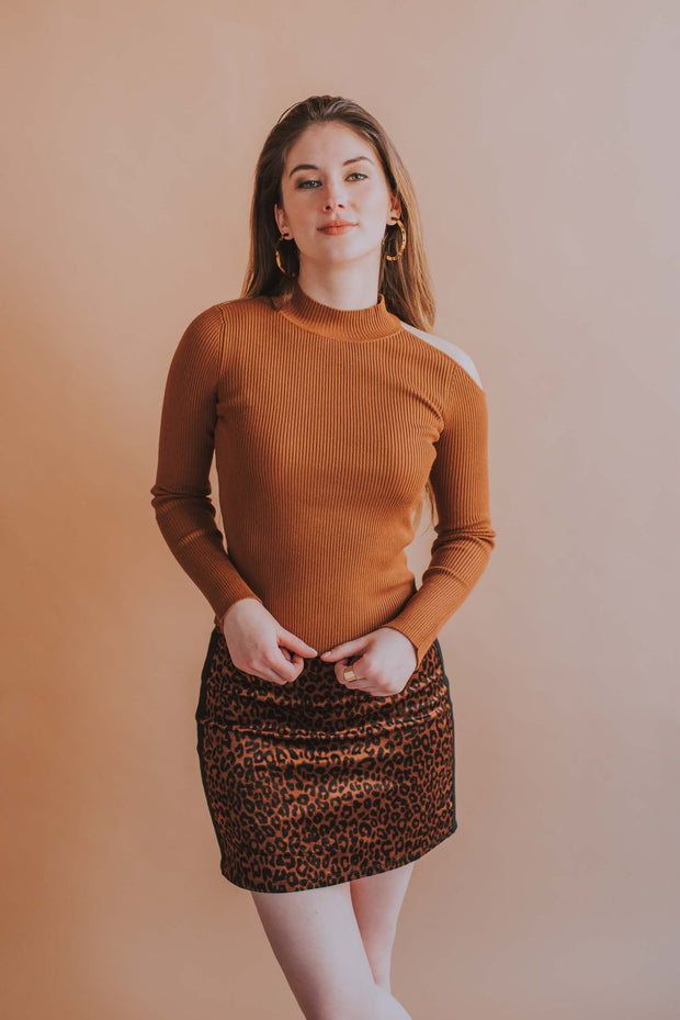 Leopard Mini Skirt - Phoebe Jane