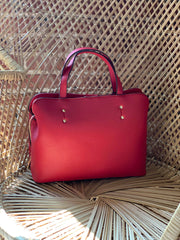 Sole Society - Deana Satchel In Red - Phoebe Jane