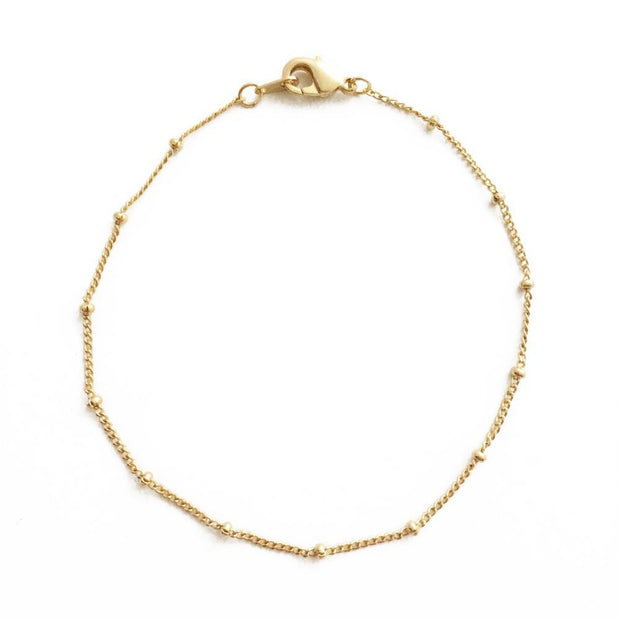Beaded Chain Bracelet In Gold - Phoebe Jane