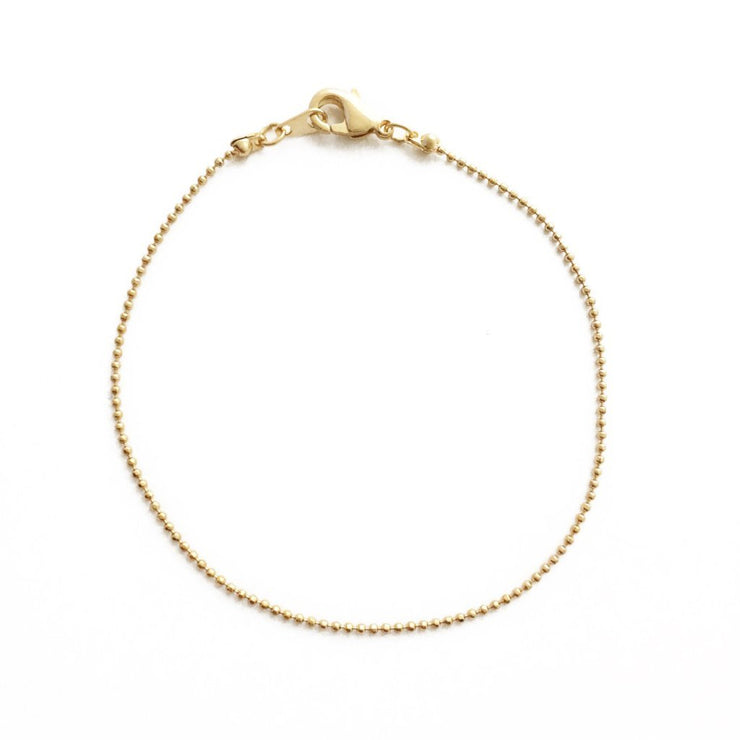 Whisper Thin Ball Chain Bracelet  In Gold - Phoebe Jane