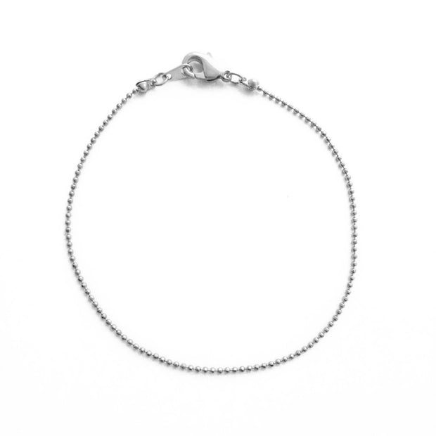 Whisper Thin Ball Chain Bracelet In Silver - Phoebe Jane