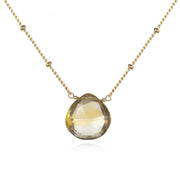 Brighter Than Sunshine Necklace  In Gold Citrine - Phoebe Jane