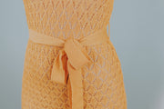 Knit Dress With Wrap Belt In Mustard - Phoebe Jane