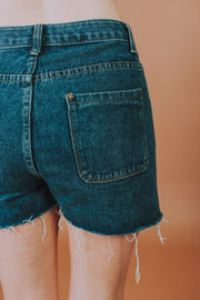 Button Fly Denim Shorts - Phoebe Jane
