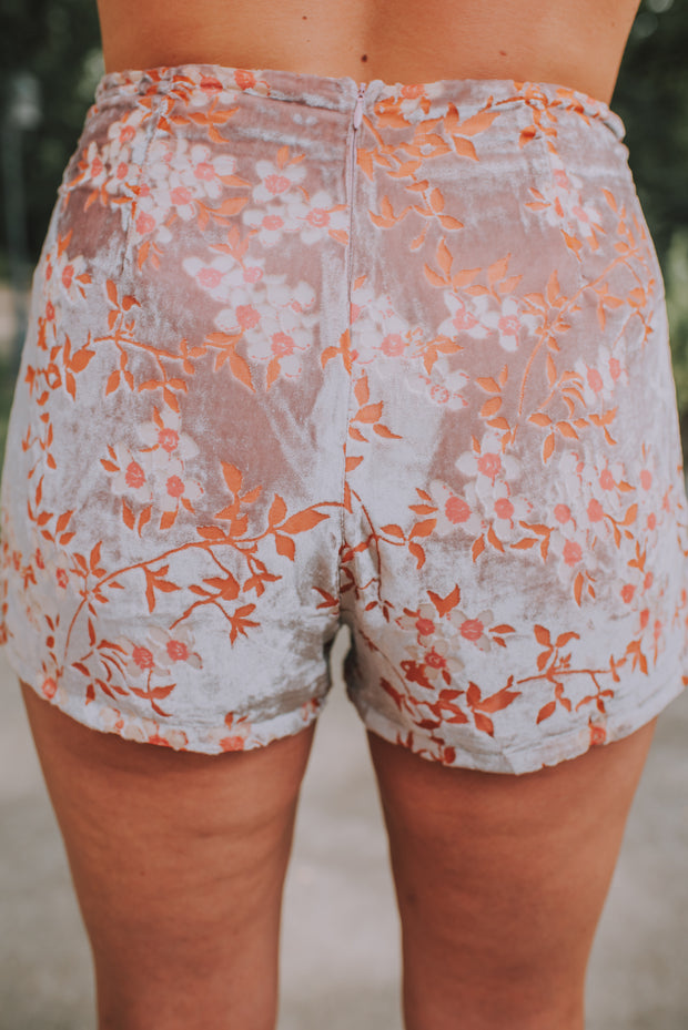 Floral Shorts In Blush And Pink - Phoebe Jane