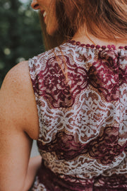 Lace Romper -In Wine And White - Phoebe Jane