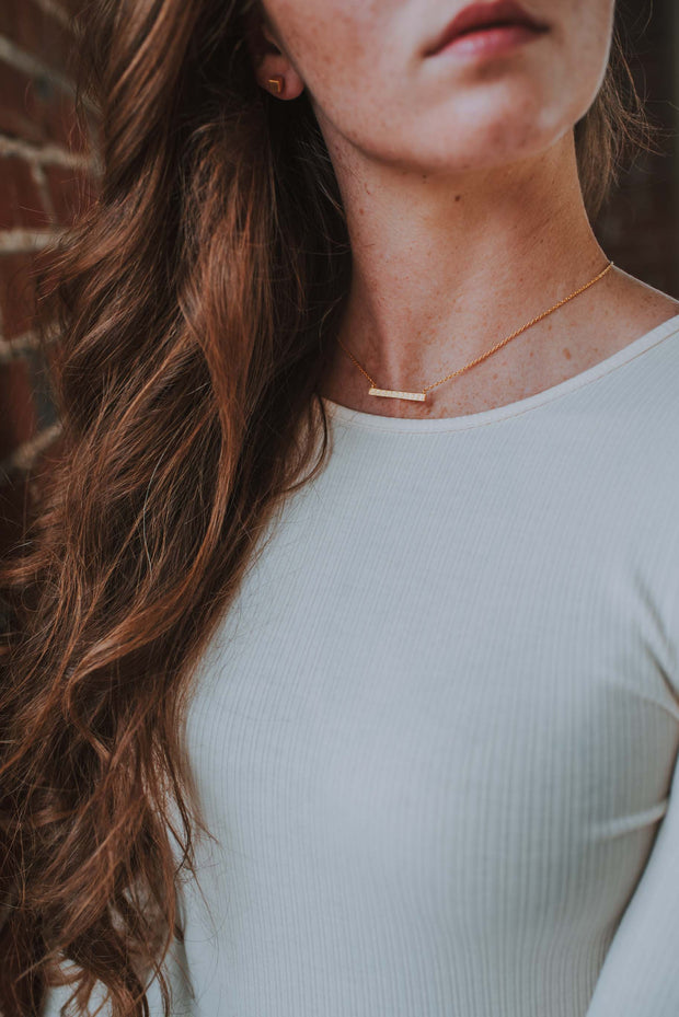 Sacred Shift Necklace In Gold - Phoebe Jane