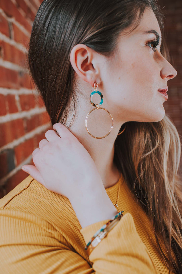 Dangling Hoop Earrings - Phoebe Jane