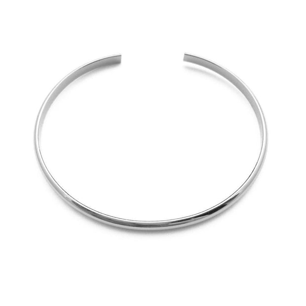 Thin Open Cuff Bracelet In Silver - Phoebe Jane