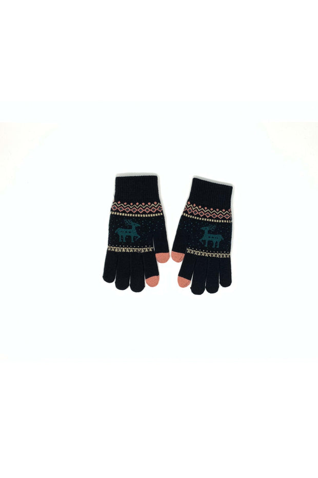 Shayla Knitted Reindeer Gloves - Phoebe Jane