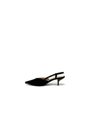 Brandy Suede Kitten Heel Black - Phoebe Jane