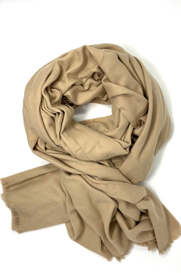 Sadie Soft Oblong Scarf With Raw Trim - Phoebe Jane