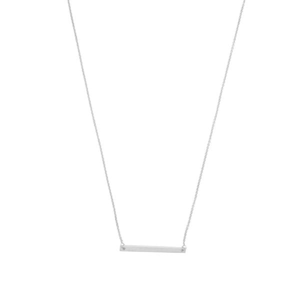 Classic Bar Necklace In Silver - Phoebe Jane