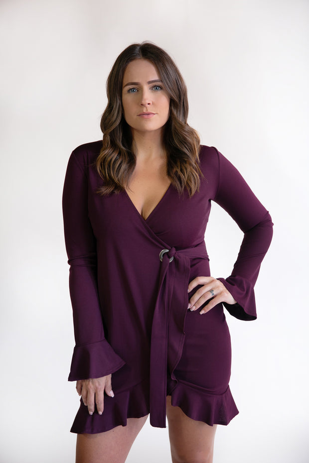 Amy Ruffle Wrap Dress - Phoebe Jane