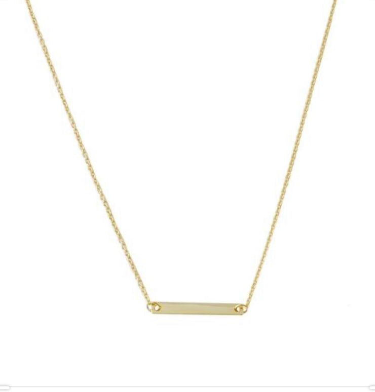 Classic Bar Necklace In Gold - Phoebe Jane