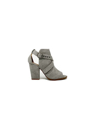 Jaycee Distressed Peep-Toe Bootie - Phoebe Jane