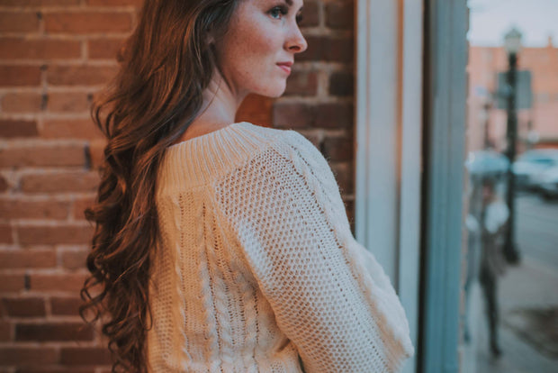 2-Way Sweater In Ivory - Phoebe Jane