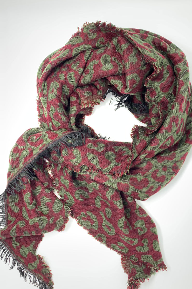 Suzann Leopard Triangle Blanket Scarf - Phoebe Jane