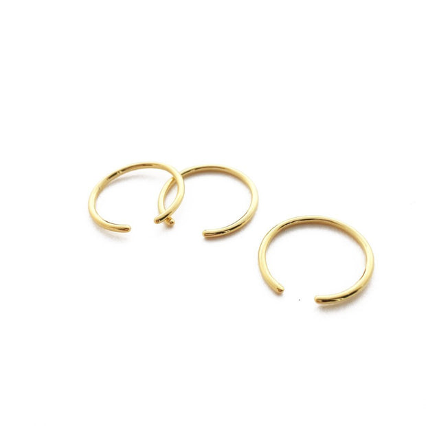 Open Skinny Stacking Ring Trio In Gold - Phoebe Jane