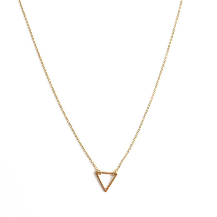 Open Triangle Necklace In Gold - Phoebe Jane