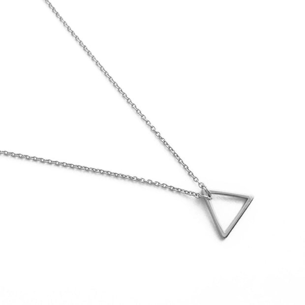 Open Triangle Necklace In Silver - Phoebe Jane