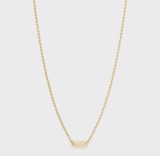 Gorjana - Parker Link Charm Necklace In Gold - Phoebe Jane