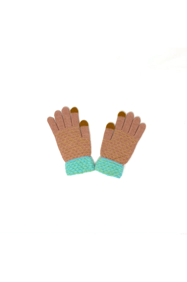 Maylene Knit Multi Colored Gloves - Phoebe Jane