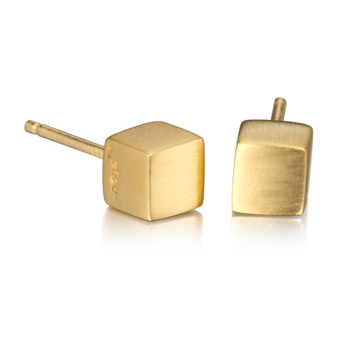 Cornerstone Earrings In Gold - Phoebe Jane