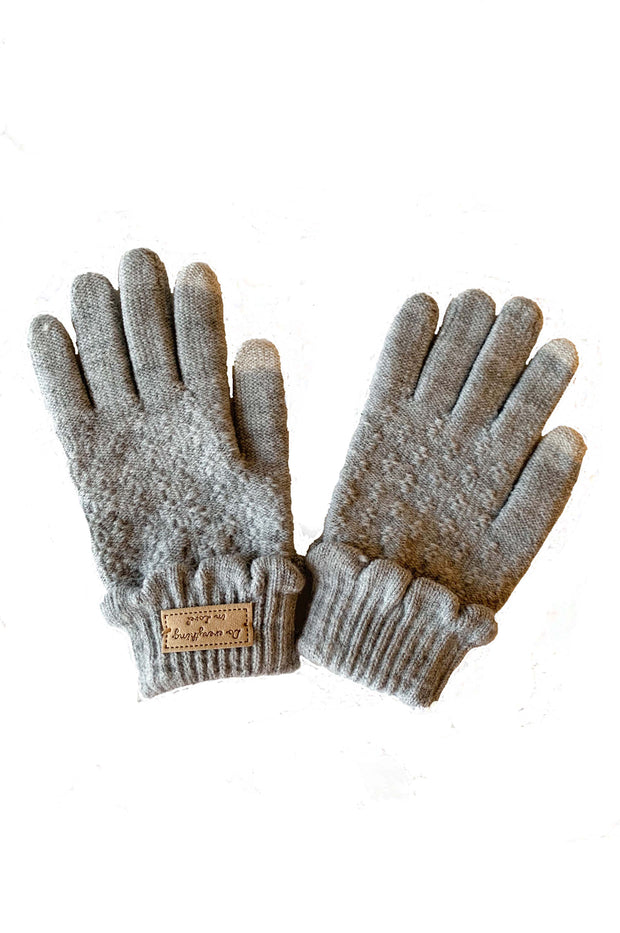 Aiden Scallop Knit Smart Gloves - Phoebe Jane