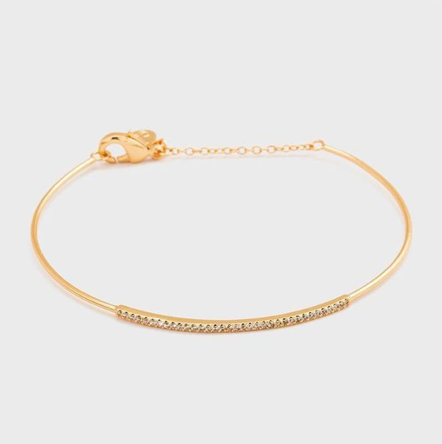 Gorjana - Nia Shimmer Bar Bracelet In Gold - Phoebe Jane