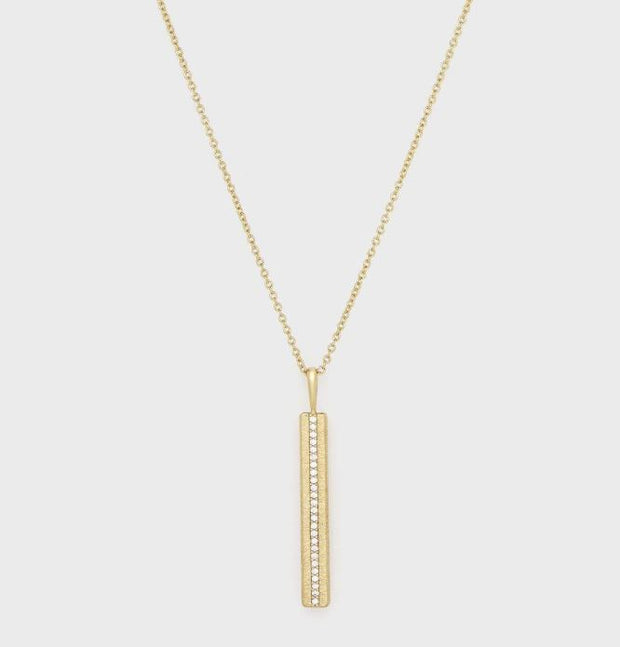 Gorjana - Nia Shimmer Bar Pendant Necklace In Gold - Phoebe Jane