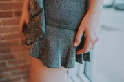 SugarLips - Avella Sparkle Mini Dress In Silver - Phoebe Jane