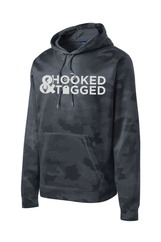 H&T Men's Hooded CamoHex Sport Pullover