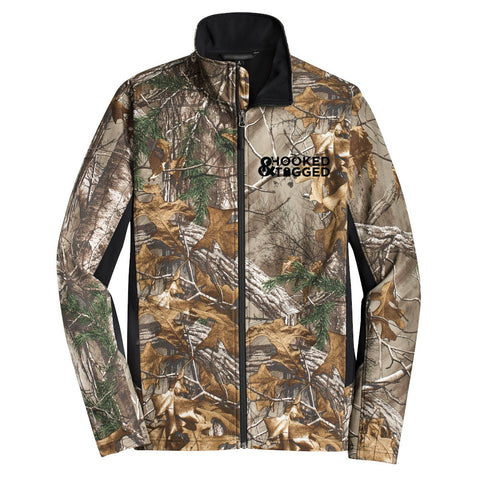 H&T Men's Camo Soft Shell Jacket