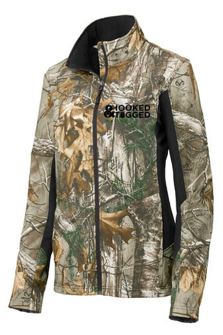 H&T Women's Camo Soft Shell Jacket