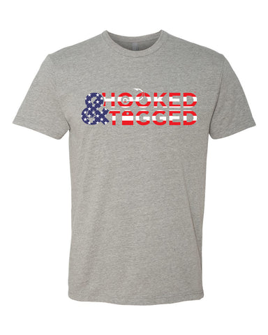 H&T Men's American Flag Logo T-Shirt