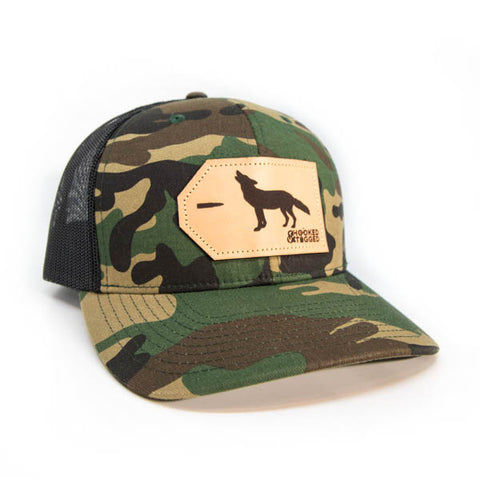 H&T Coyote Patch Hat - (Curved-Brim)