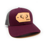 H&T Buck Antler Patch Hat - (Curved-Brim)