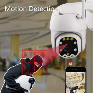 1080P WiFi HD Night Vision 2.5 Inch PTZ Audio Intercom Remote Intelligent Surveillance Camera