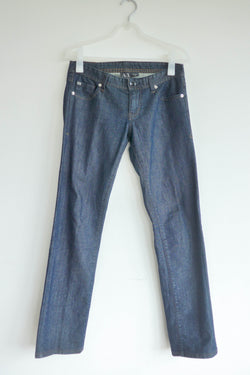 Straight leg low-rise jeans