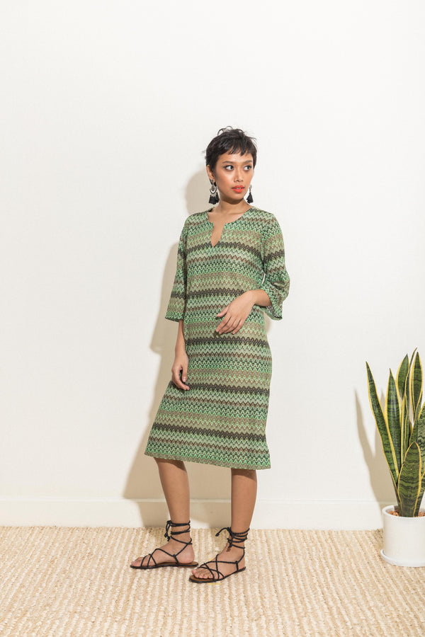 Shift Dress in Wave Crochet