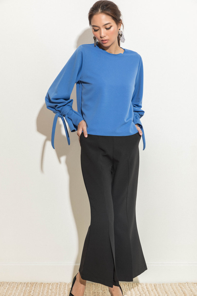 Top with Tie Detail Sleeves
