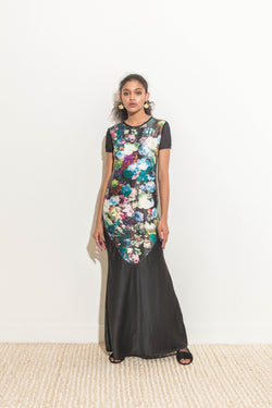 Floor-length Printed Dress