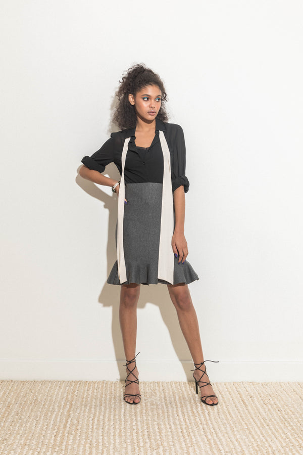 Stretchy Fit-and-flare skirt